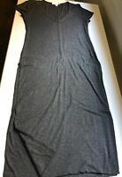 Amour Vert Size M (8-10) Miley Deep V Neck Short Sleeve Midi Ultra Soft Dress