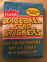 1981 Fleer Baseball Star Stickers Card Pack Garry Maddox Phillies Showing Back