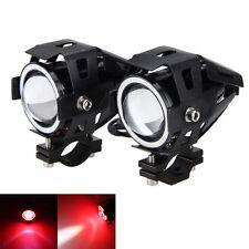 2X 125W 3000LM U7 Motorcycle LED Headlight Driving Fog Lamp with Switch For BMW