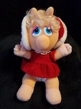 """Vtg 1987 Baby Miss Piggy Muppets 11"""" Plush Collectible Toys Henson"""