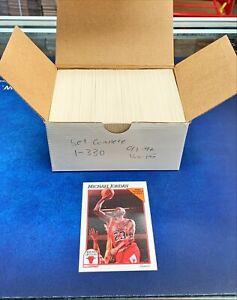 1991-92 NBA Hoops Basketball Series 1 Complete Set (1-330) Michael Jordan