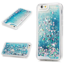 iPhone 6s Case, Liquid Sparkle Glitter Cover, Clear TPU Shell, Girl Bling Design