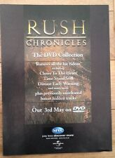 RUSH 'Chronicles' magazine ADVERT / Poster 11x8 inches
