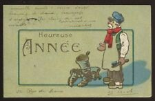 France Happy New Year Embossed artist PPC 1906