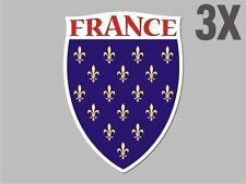 3 France shaped sticker flag crest decal bumper car bike Stickers vinyl CN015