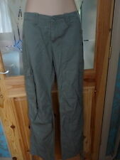 TIMBERLAND LADIES GREEN CARGO TROUSERS UK SZ 8 REGULAR