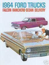 1964  FORD FALCON RANCHERO TRUCK SALES BROCHURE