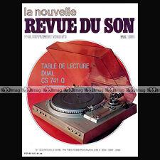 NOUVELLE REVUE DU SON N°48 HIFI HOLMAN NYTECH MAGNEPAN LEACH ESOSTER SUGDEN 1981