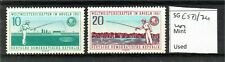 East Germany 1961 World Angling Championships set SGE573/74 MNH