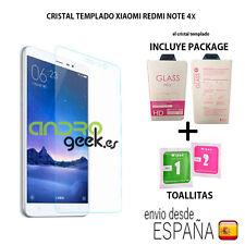 CRISTAL TEMPLADO PARA XIAOMI REDMI NOTE 4X. INCLUYE PACKAGE y TOALLITAS. ESPAÑA