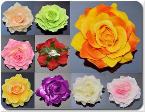 XL Fiore Capelli Molletta per Capelli Bustino Spilla Rosa 10-11cm Affascinante