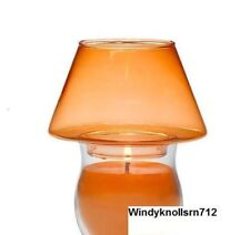 PartyLite Color Lites Mini Barrel Jar Shade, Orange, Nib