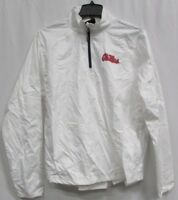 Ole MIss Rebels Men M  Gen-2 1/4 Zip Lightweight Jacket Flawed