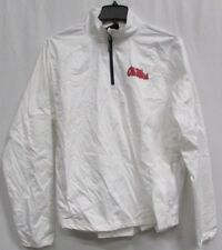 Ole MIss Rebels Men M  Gen-2 1/4 Zip Lightweight Jacket Flawed