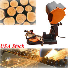 Electric Safety Chain Saw Sharpener 4800RPM Bench Wall Mount Grinder Wheel Tool