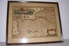New listing Vintage Map Dated 1629 French France Carte De Normadie Great Graphics