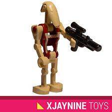 GENUINE LEGO STAR WARS Red Security Battle Droid Minifig + Blaster Gun NEW