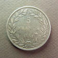 FRANCE - 5 Francs - LOUIS-PHILIPPE - 1831 B, tranche en creux - Argent