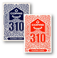 2 Deck Set COPAG 310 Playing Cards (Blue and Red) Spielkarten Poker Cardistry