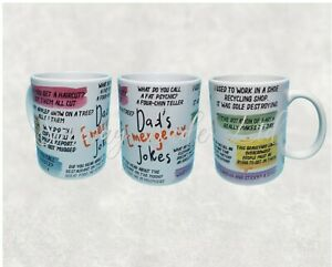 Happy Fathers Day Novelty Gift Ceramic Mug Dad Grandad Joke Funny Cup Birthday