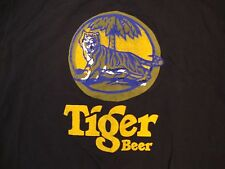 Tiger Beer Liquor Alcohol Beer College Party Drink Drinking Black T Shirt M