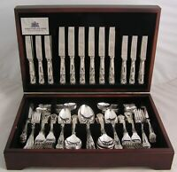 KINGS Design TUDOR CROWN Sheffield Silver Service 124 Piece Canteen of Cutlery