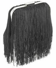 INC Colie Fringe Black Clutch Party Handbag MSRP $79