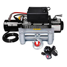 8000Lb 12V Recovery Truck Trailer ATV SUV Winch 5.5HP Electric Towing Mount