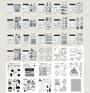 Christmas Hallowmas Flower Cutting Dies Clear Stamps for Diy Scrapbooking Cards