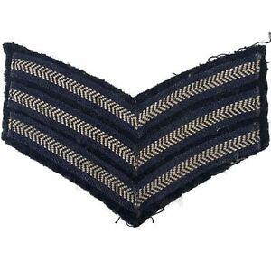 WW2 Royal Air Force RAF Sergeants Cloth Stripes Insignia Chevron - XF59