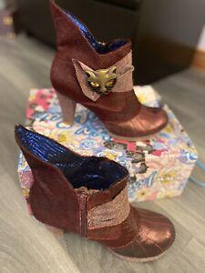 BNIB Irregular Choice Miaow boots Size 40