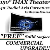 """130""""2.35:1 PRO-CURVE / FLAT 4K HOME THEATER PROJECTION FIXED PROJECTOR SCREEN 3D"""