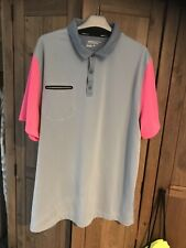 Nike Golf Polo Shirt Top Mens Xl Grey Pink