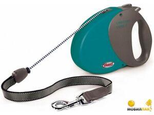 Flexi Comfort Basic 1 Retractable Cord leash Maximum 12kg-Patrol Green-5m