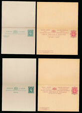 Gb Ke7 Reply Paid Stationery Cards 1/2d + 1/2d.1d + 1d.Fine Unused 2 Items