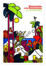 "Cuban movie Poster 4 film""Excursion to NATURE""Landscape.Environmental art"