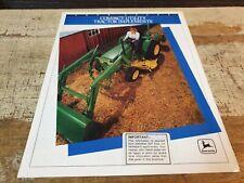 1991 JOHN DEERE Compact Utility Tractor Impliments Original Sales Brochure