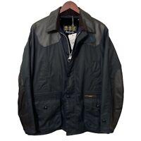 Barbour Gold Standard SUPA ASHBY Navy Blue Men's Wax Jacket Medium M 40 £599