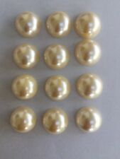 Flat Backed Plastic Pearls For Craft Pack Of 12