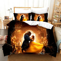 3D Beauty and the Beast Bedding Set Duvet Cover Pillowcase Comforter Cover Set