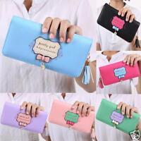 New Women Leather Bifold Wallet Clutch Card Holders Purse Lady Long Handbag LOT