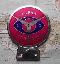 Genuine  Vintage Car Mascot Enamel Badge : Alpha Television SSC