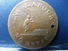 UC-4A1 Halfpenny token Upper Canada No labour No bread Breton 1010