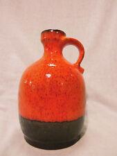 Otto Keramik Vase red black west german pottery design 60s 70s 60er 70er