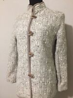 Norm Thompson Woven Boucle Wool Toggle Closure Vintage Jacket Sz S