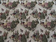 New Tapestry Home Décor Old Village  Fabric Tan 1+ ft.