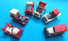 6 Old Fashioned 4.5cm Cars-  all Different - Old Warehouse Find