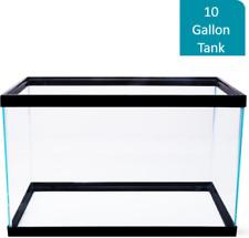New listing 10 Gallon Fish Tank Aquarium Clear Glass Terrarium Pet Aqua Reptiles Goldfish