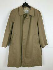 Vintage Aquascutum London 42 Reg Trench Coat Jacket Light Brown Lined Canada K2