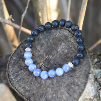 'Protection and Peace' Lava Stone Diffuser Bracelet Chakra Healing Stones